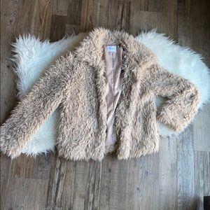 skylar + madison faux fur jacket